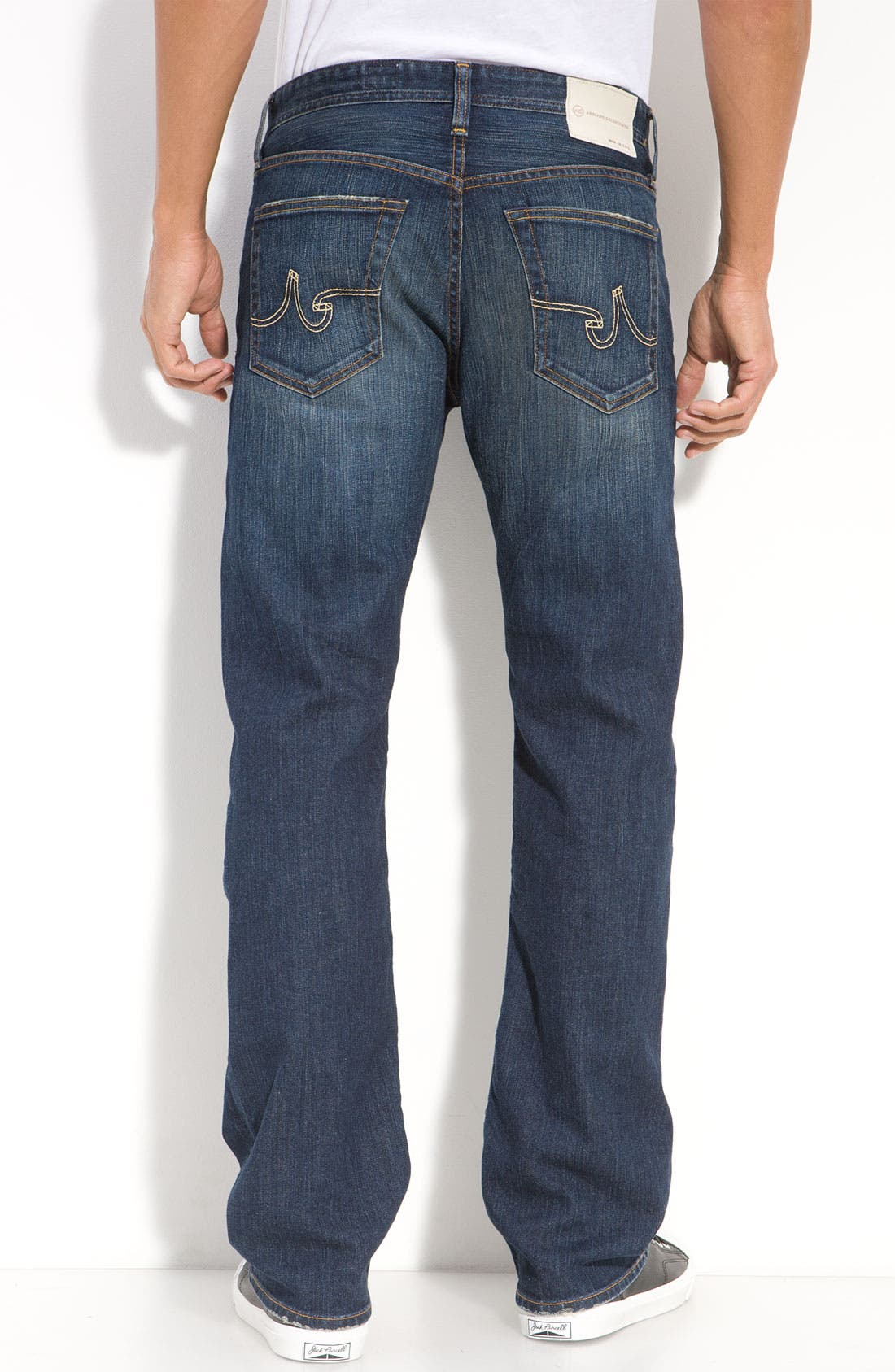 ,                             'Protégé' Straight Leg Jeans,                             Alternate thumbnail 57, color,                             485