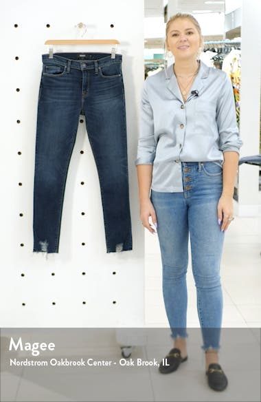 Nico High Waist Chewed Hem Ankle Skinny Jeans, sales video thumbnail
