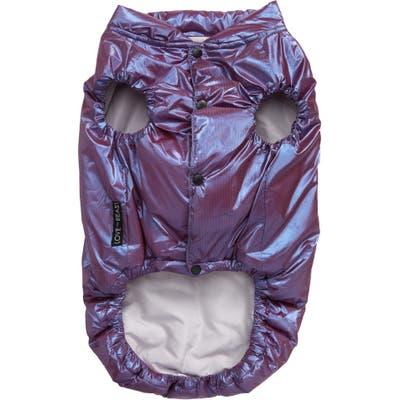 Lovethybeast Metallic Puffer Vest, Purple