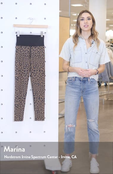 High Waist Leopard Leggings, sales video thumbnail