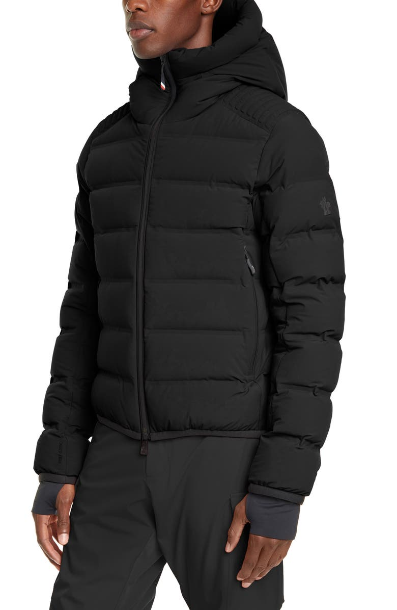 MONCLER GRENOBLE Lagorai Hooded Stretch Nylon Puffer Jacket, Main, color, BLACK