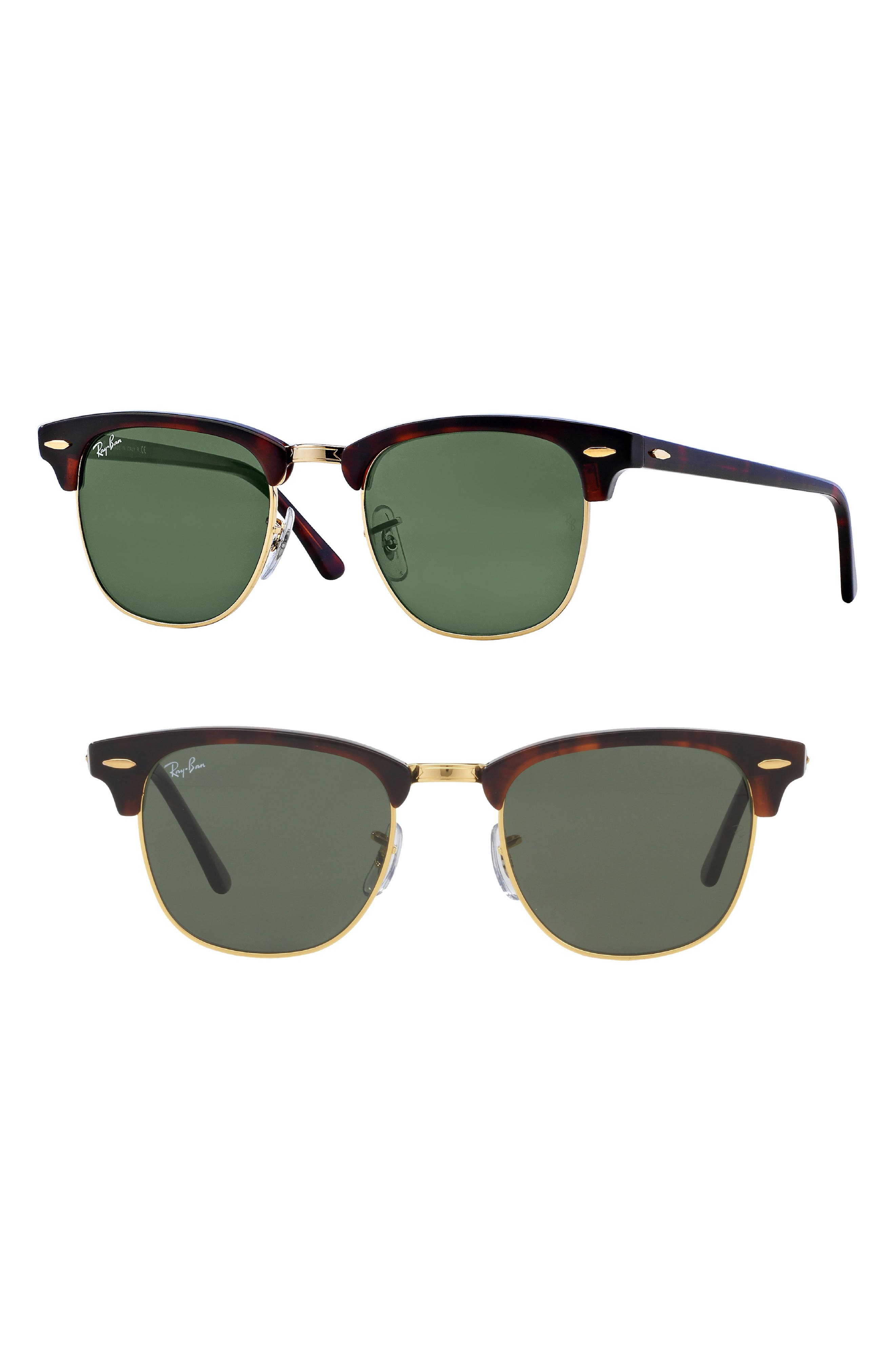 Ray-Ban Standard Clubmaster 51Mm Sunglasses - Dark Tortoise