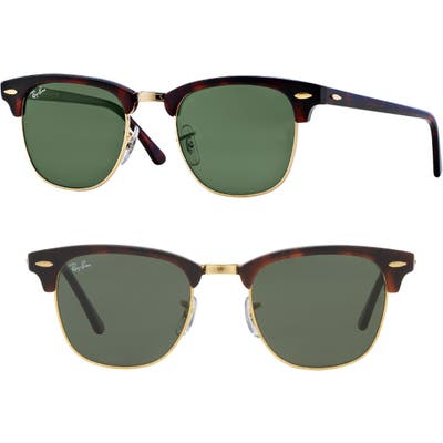 Ray-Ban Standard Clubmaster 51Mm Sunglasses - Dark Tortoise