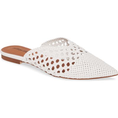 Jeffrey Campbell Leno Woven Pointed Toe Mule- White