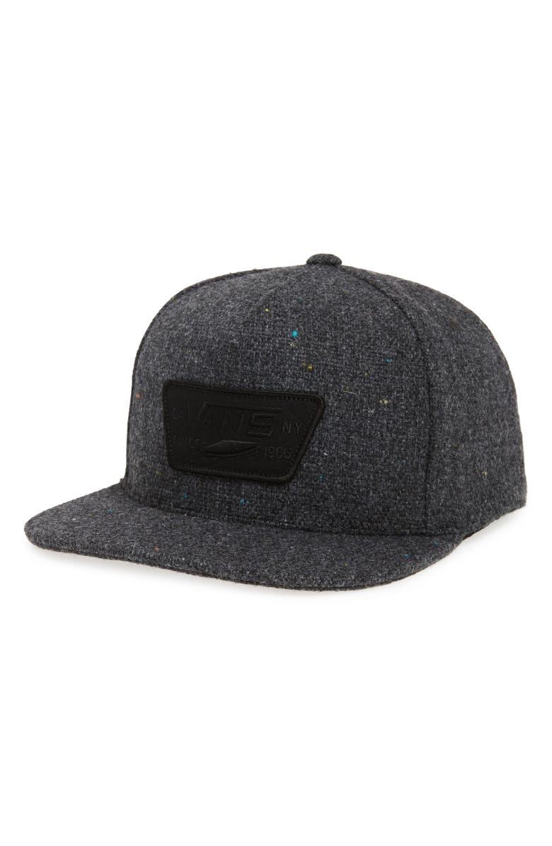 VANS 'Full Patch' Snapback Hat, Main, color, 003