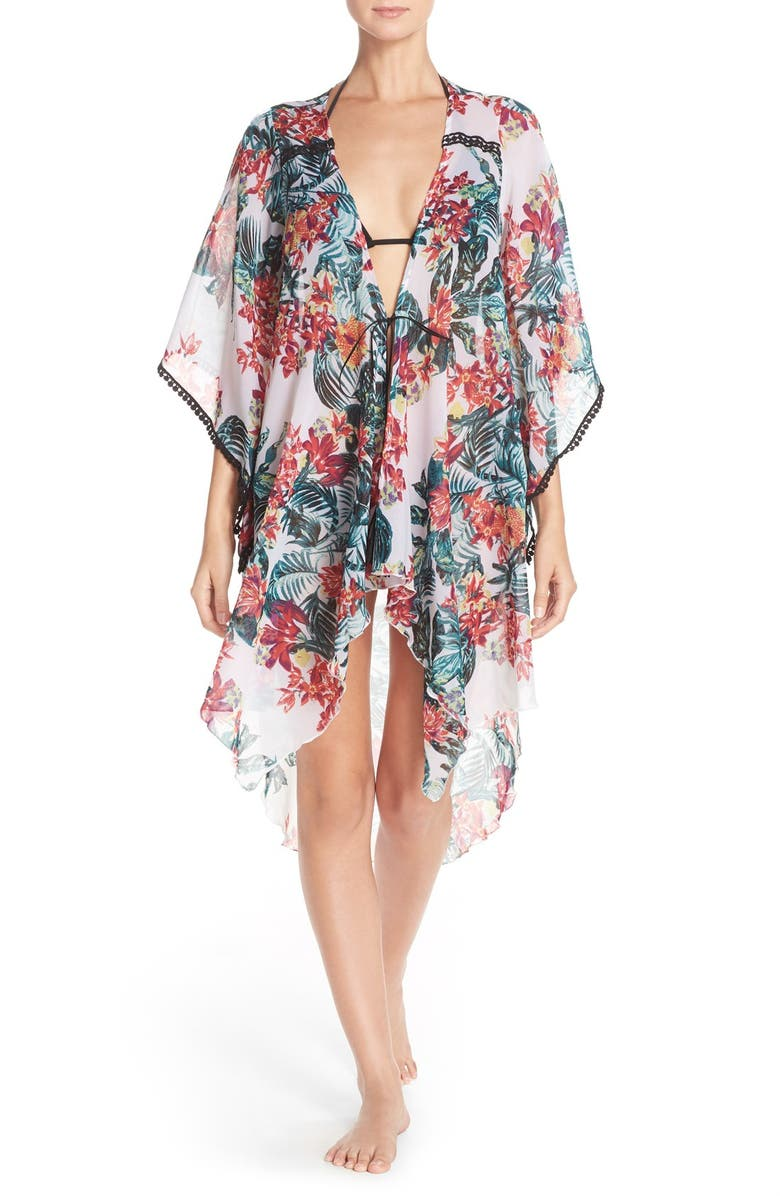BCBG eneration 'New Horizons' Print Cover-Up, Main, color, 001