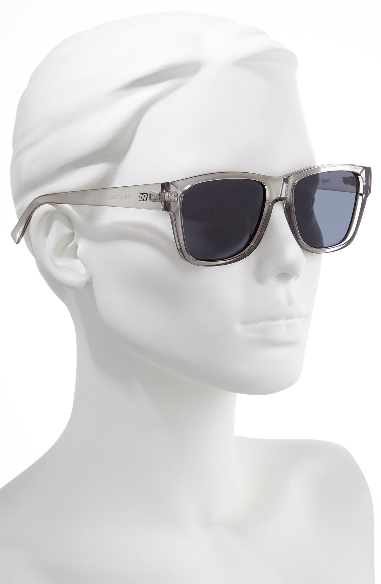 ,                             The Force 57mm Transparent Square Sunglasses,                             Alternate thumbnail 2, color,                             TRANSPARENT PEWTER/ SMOKE