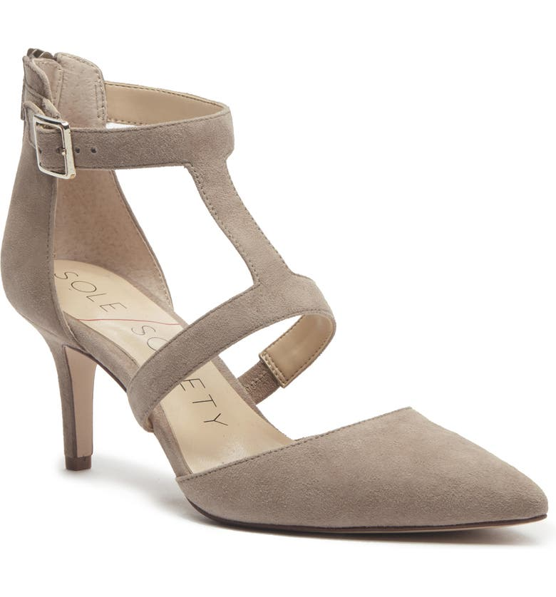 SOLE SOCIETY Edelyn Pump, Main, color, FALL TAUPE SUEDE