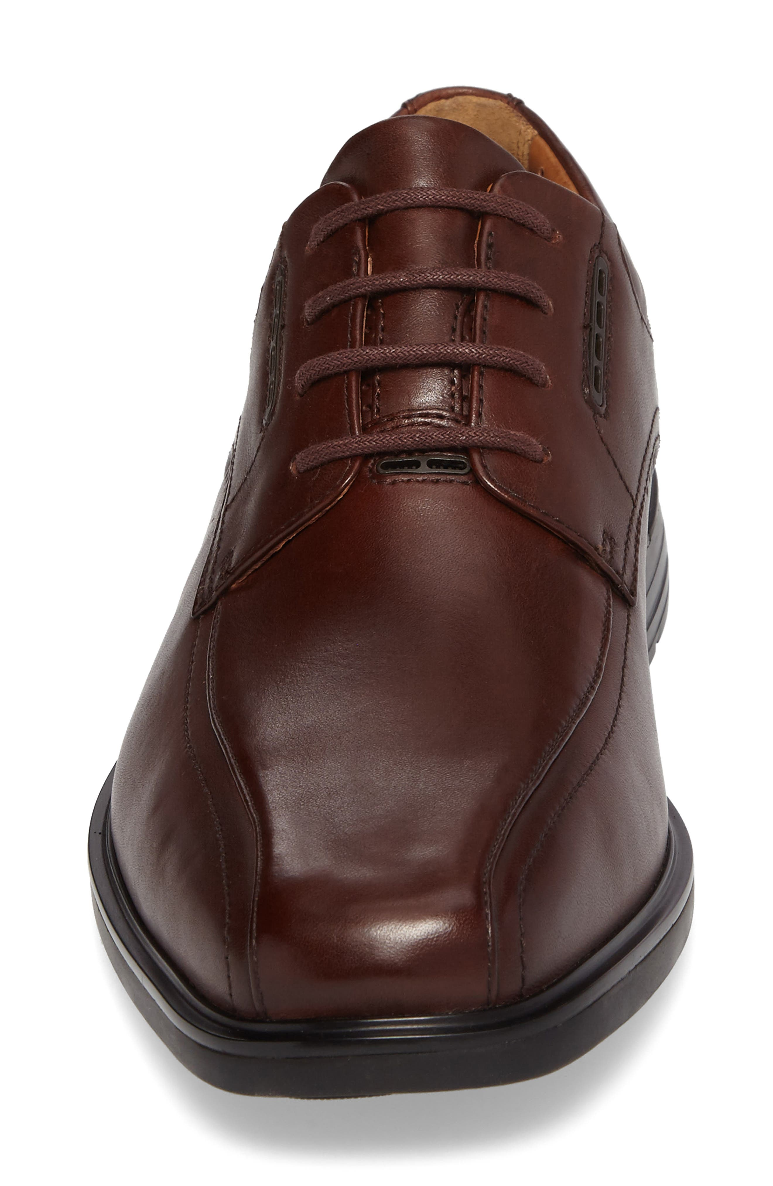 ,                             Un.Kenneth Bike Toe Oxford,                             Alternate thumbnail 4, color,                             BROWN LEATHER