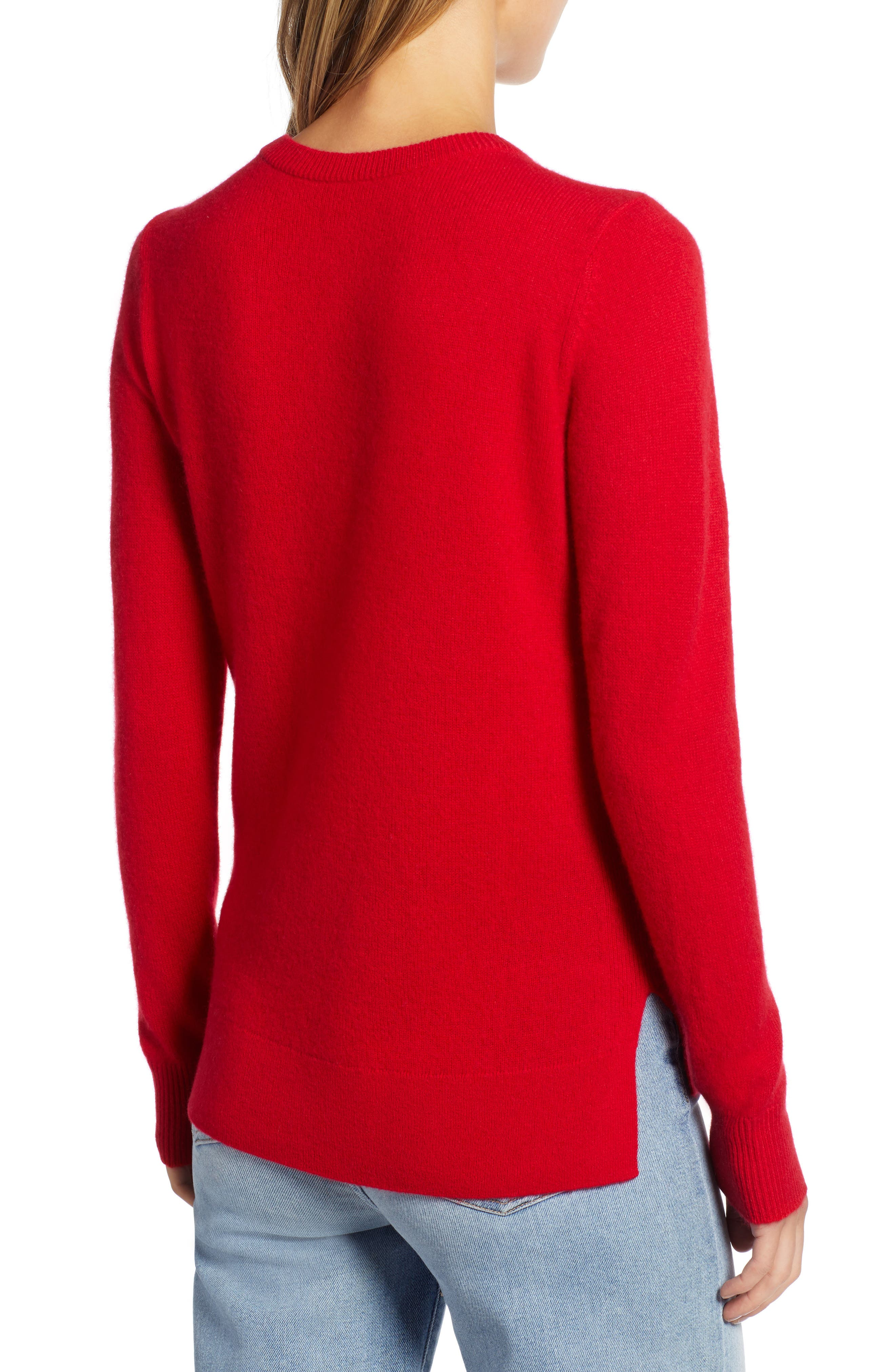 ,                             Crewneck Cashmere Sweater,                             Alternate thumbnail 145, color,                             610