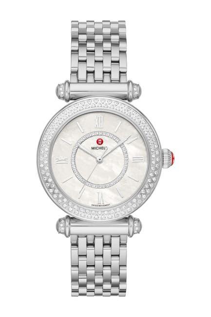 Image of Michele Women's Caber Diamond Bracelet Watch, 35mm - 0.19 ctw