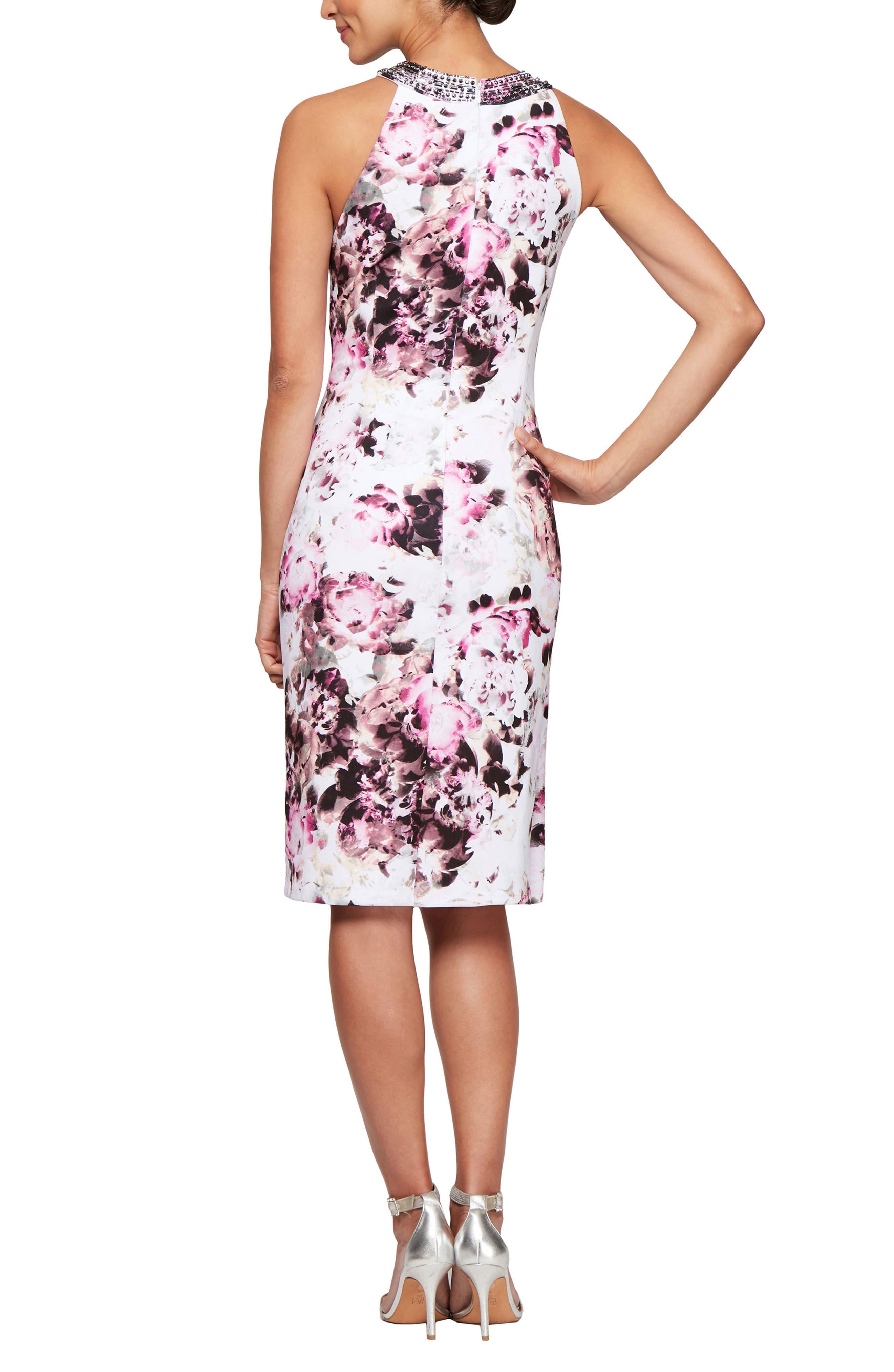 ,                             Floral Cocktail Dress,                             Alternate thumbnail 2, color,                             MULTI FLORAL