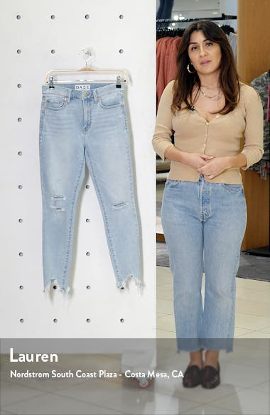Call You Back Ripped High Waist Crop Skinny Jeans, sales video thumbnail