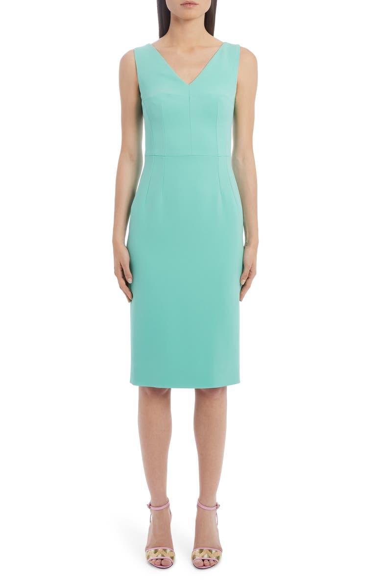 DOLCE&GABBANA Cady Sheath Dress, Main, color, V0234 BLUE