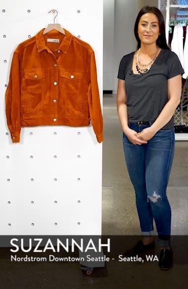 Boxy Oversize Corduroy Jacket, sales video thumbnail