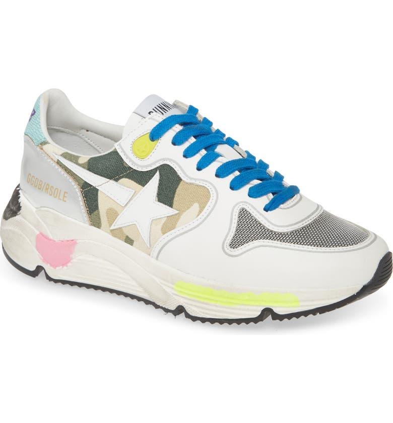 GOLDEN GOOSE Running Sole Sneaker, Main, color, WHITE
