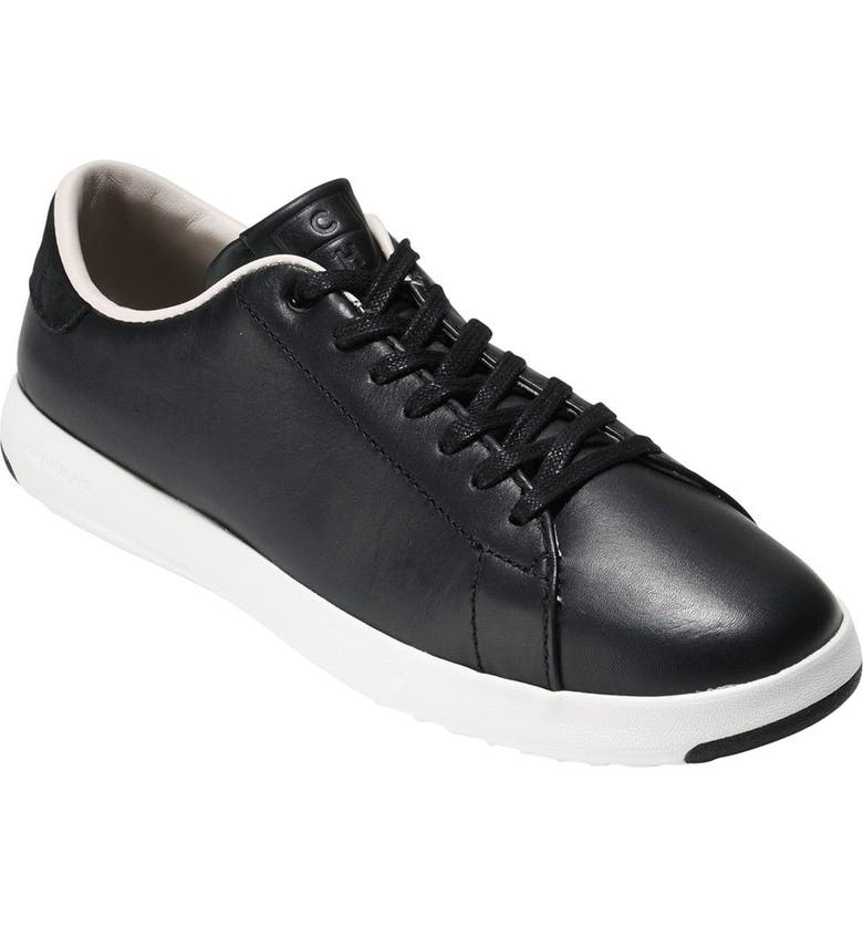 COLE HAAN GrandPro Tennis Shoe, Main, color, BLACK LEATHER