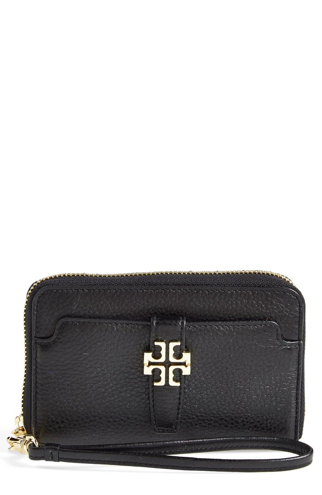 'Plaque' Smartphone Wallet, Main, color, 001