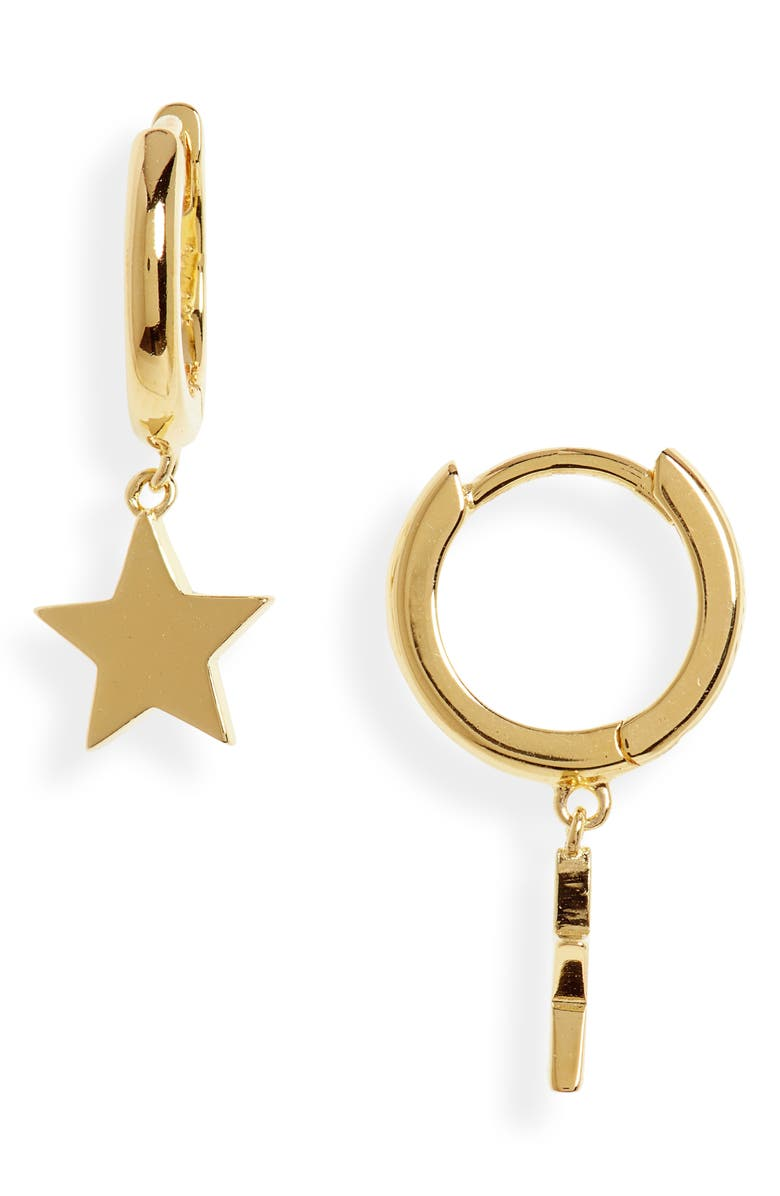 ARGENTO VIVO Starry Night Huggie Earrings, Main, color, GOLD