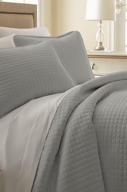 Image of SOUTHSHORE FINE LINENS Full/Queen Southshore Fine Linens Vilano Springs Oversized Quilt Set - Steel Gray