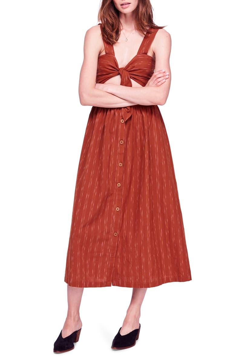 FREE PEOPLE Caldasi Midi Dress, Main, color, 205