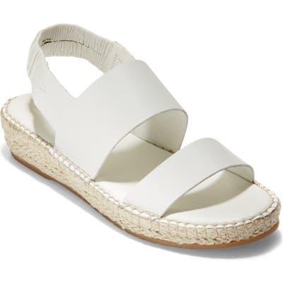 Cole Haan Cloudfeel Espadrille Sandal B - White