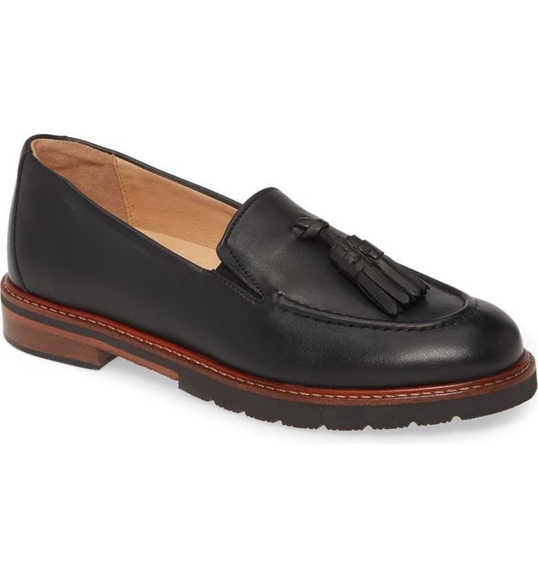 SAMUEL HUBBARD Tasseled Traveler Loafer, Main, color, 001