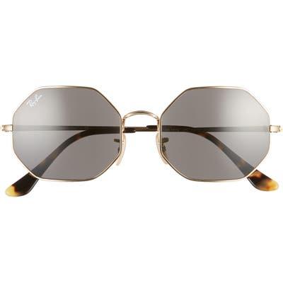 Ray-Ban 1972 5m Octagon Sunglasses - Gold/ Dark Grey Solid