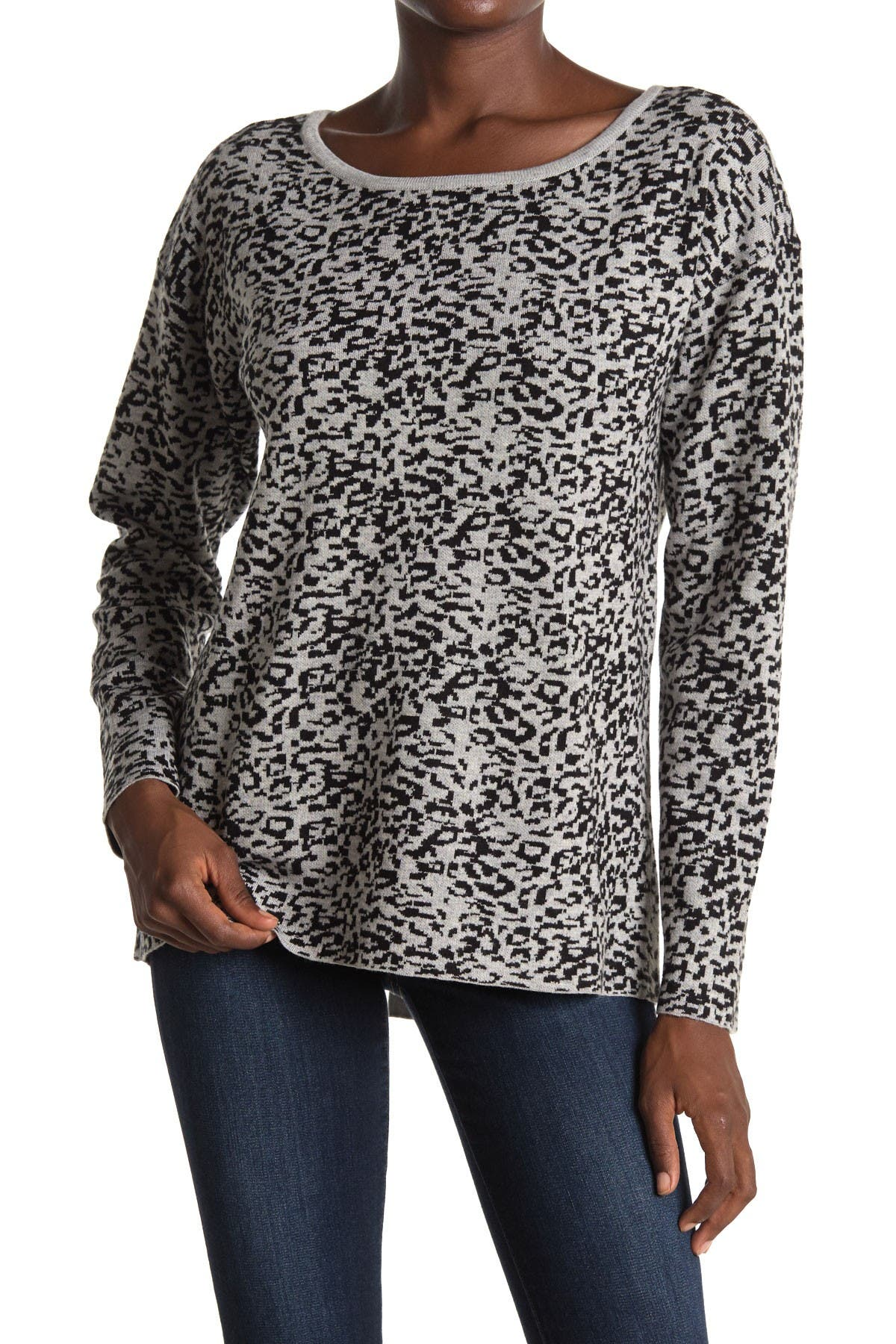 Image of NYDJ Leopard Print Button Back Sweater