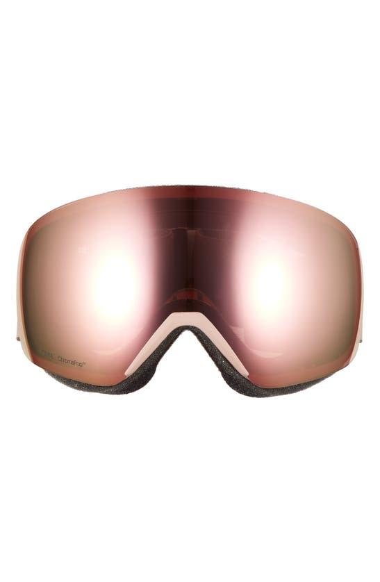 Smith Skyline 205mm Chromapop Snow Goggles In Rock Salt / Tannin/ Rose Gold