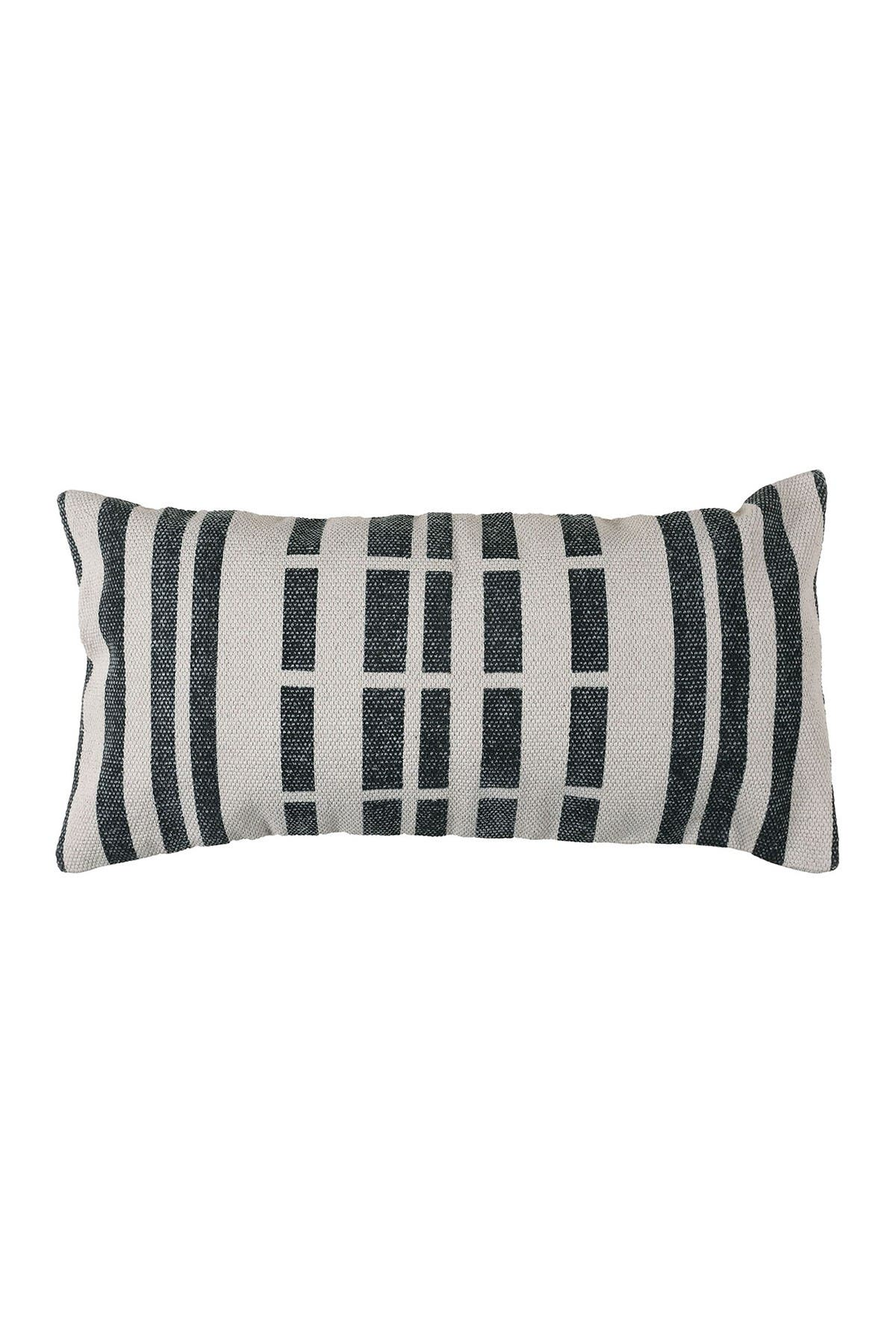 Image of HOMART Block Print Lumbar Pillow 12x24 - Broken Stripe
