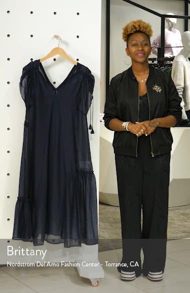 Kendall Tie Sleeve Midi Dress, sales video thumbnail