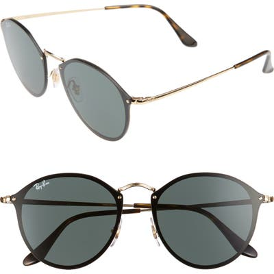 Ray-Ban Blaze 5m Round Sunglasses - Gold/ Green