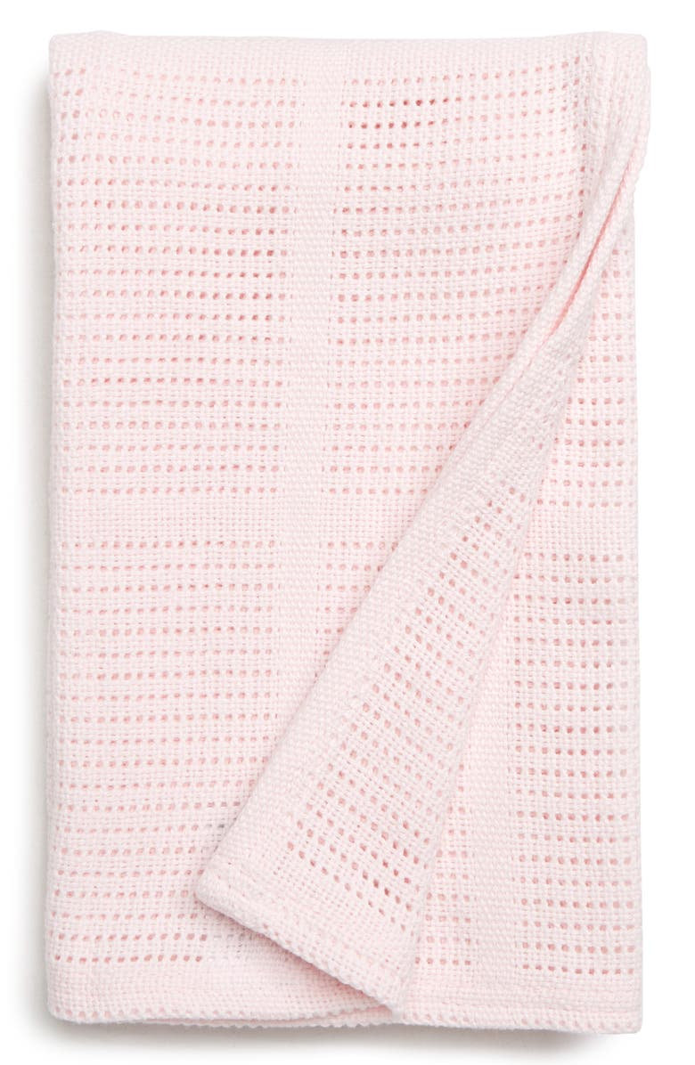LULUJO Cellular Baby Blanket, Main, color, PINK