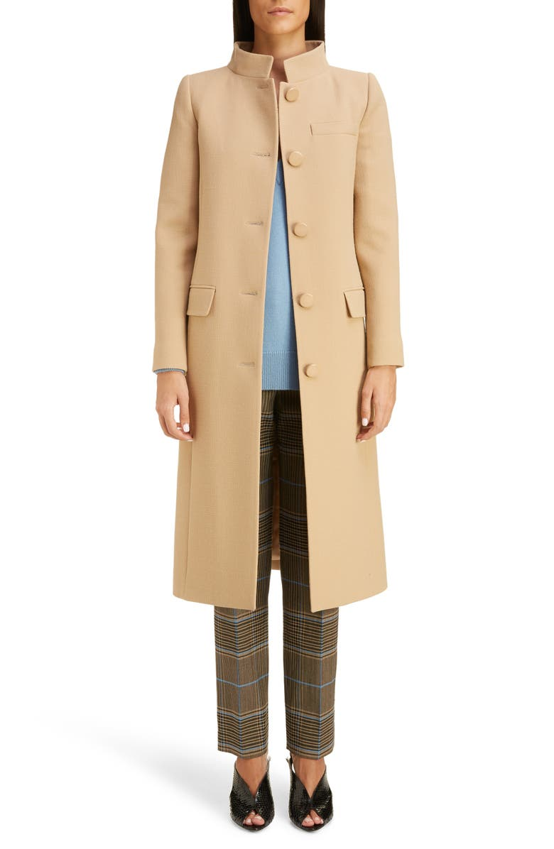 GIVENCHY Wool Crepe Jacket, Main, color, HAZEL