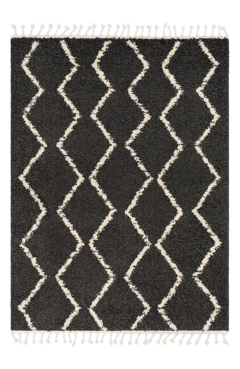 SURYA HOME Berber Shag Area Rug, Main, color, CHARCOAL