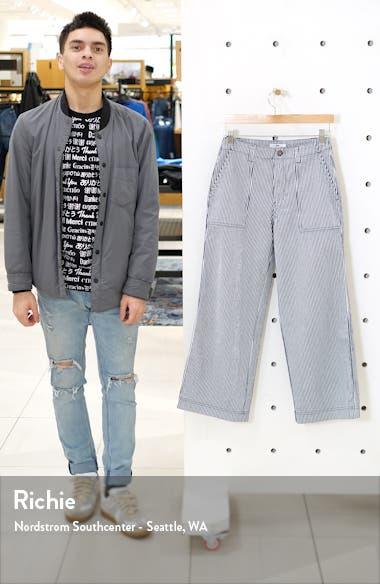 Barrecks Wide Leg High Waist Stripe Crop Pants, sales video thumbnail