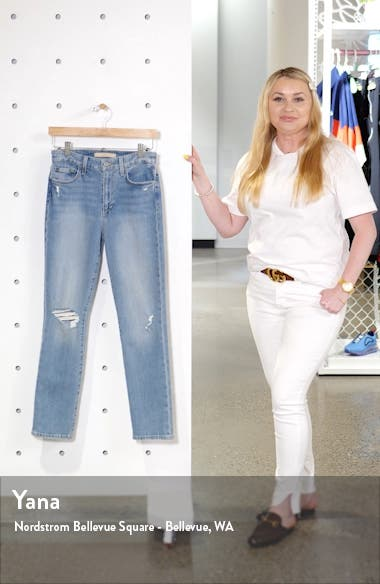 The Milla High Waist Ripped Ankle Straight Leg Jeans, sales video thumbnail