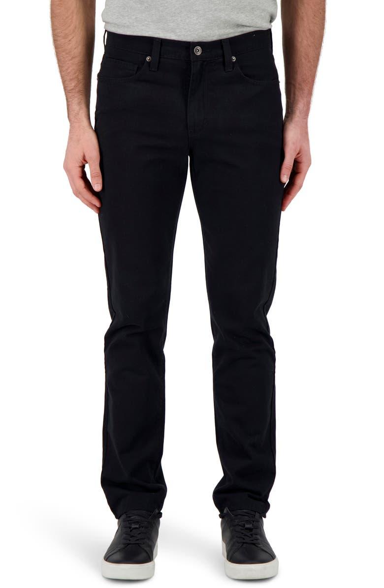 DEVIL-DOG DUNGAREES Athletic Fit Performance Jeans, Main, color, BLACK