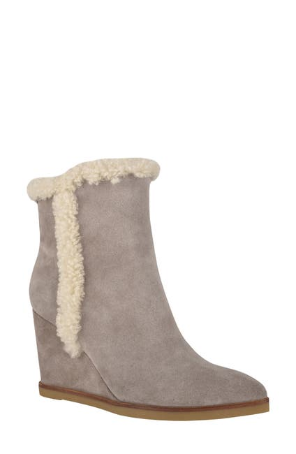 Image of Marc Fisher LTD Brendan Genuine Shearling Wedge Bootie