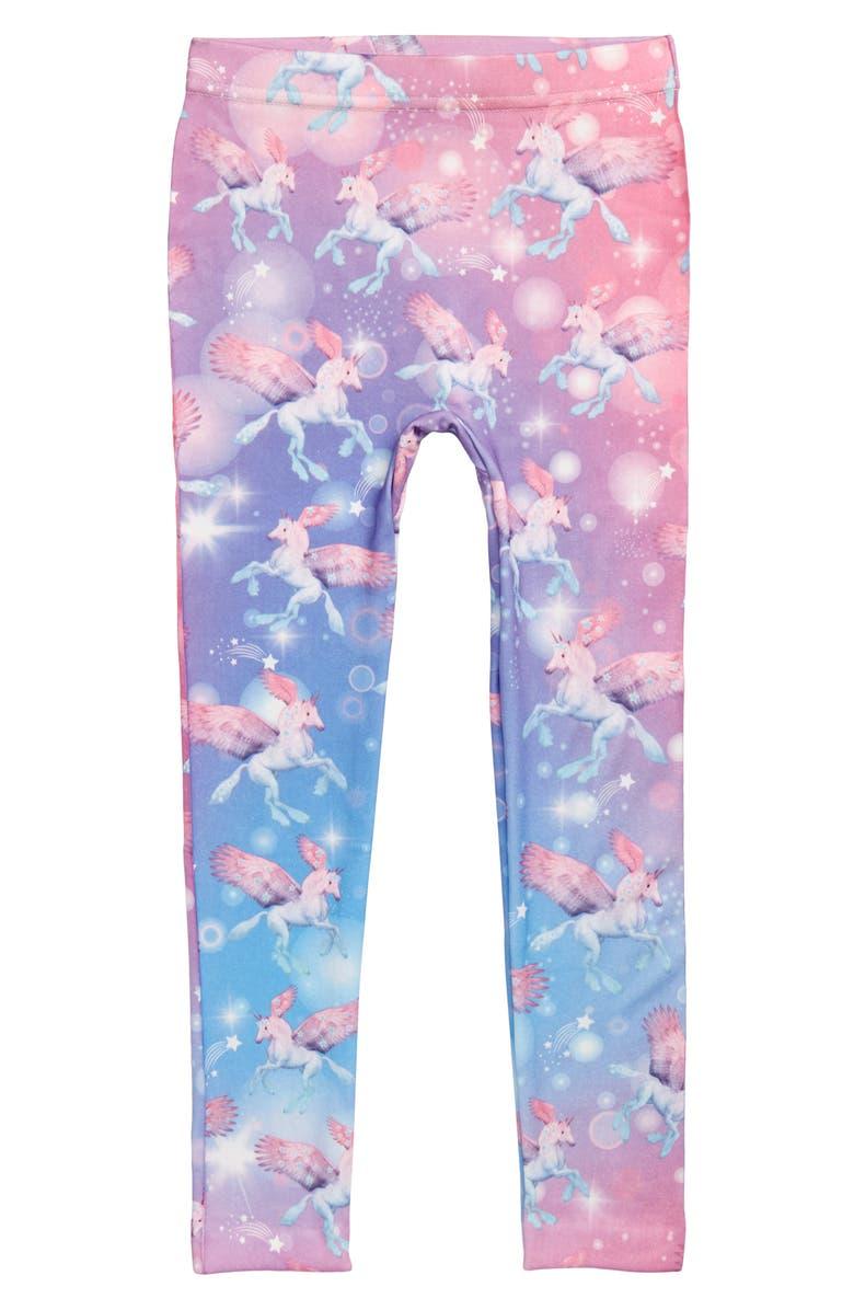 CAPELLI NEW YORK Star Unicorn Leggings, Main, color, MULTI COMBO
