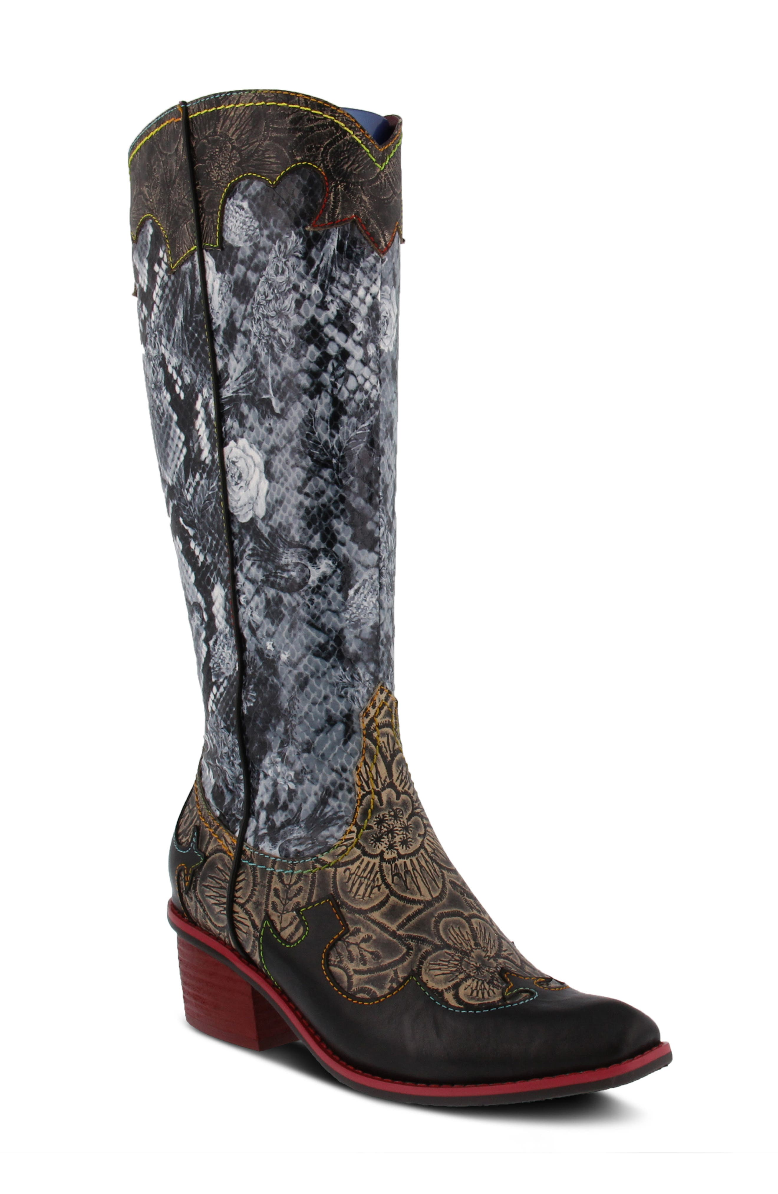 Rodeo Snake Embossed Western Boot