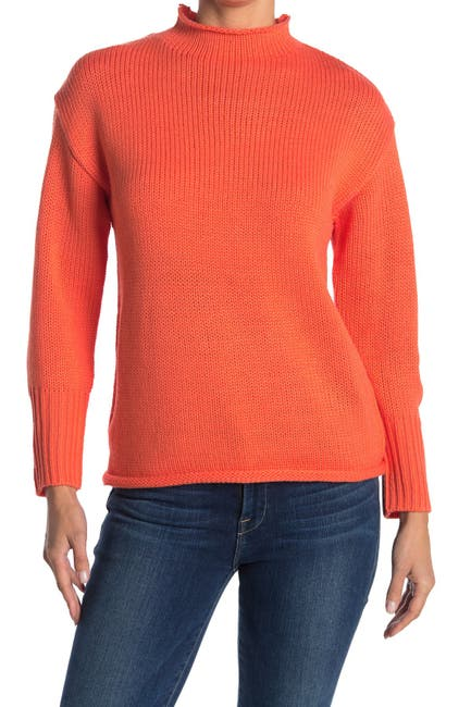 Image of FOR THE REPUBLIC Knit Mock Neck Pullover