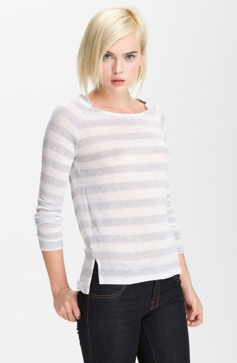 WHETHERLY 'Lily' Stripe Sweater, Main, color, 020