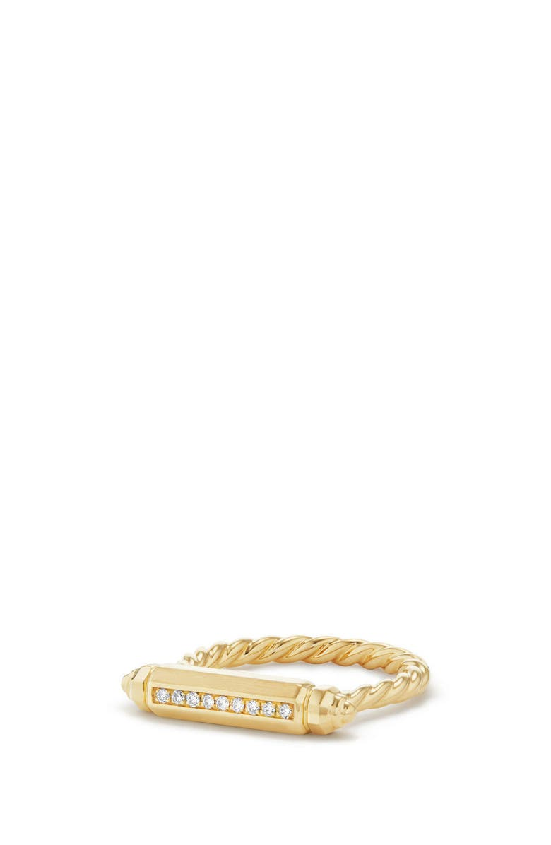 DAVID YURMAN Barrels Ring with Diamonds in 18K Gold, Main, color, YELLOW GOLD