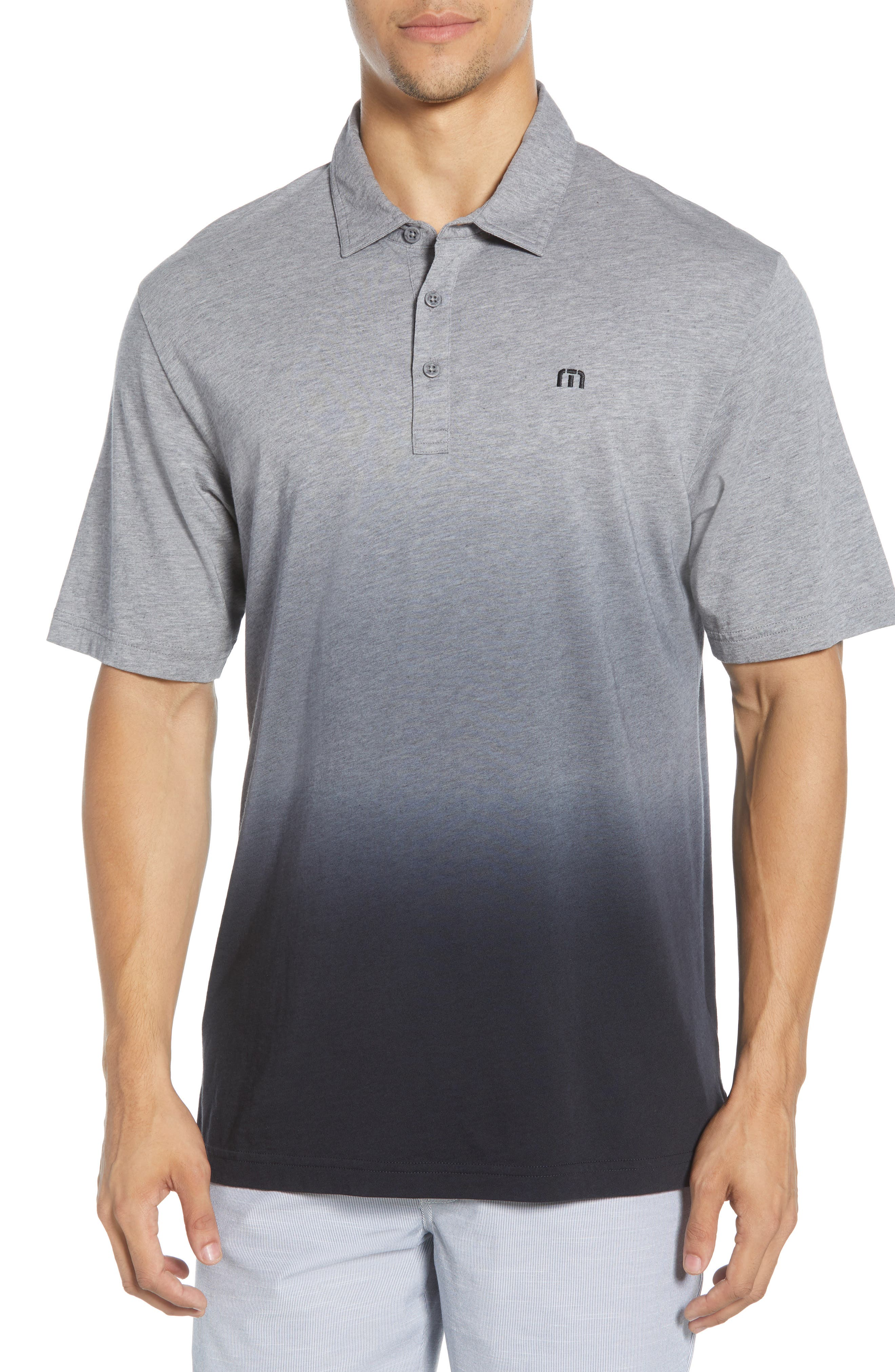 Image of TRAVIS MATHEW Secret Ingredient Ombre Printed Polo