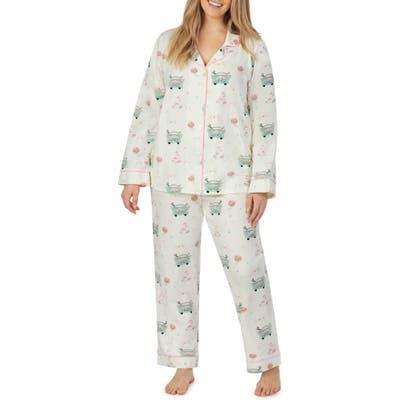 Plus Size Bedhead Pajamas Stretch Organic Cotton Pajamas, White