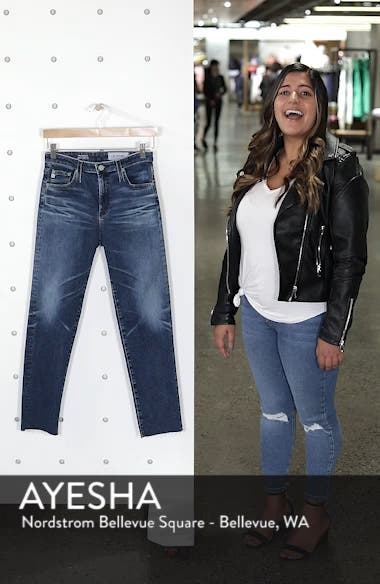 The Isabelle High Waist Ankle Straight Leg Jeans, sales video thumbnail