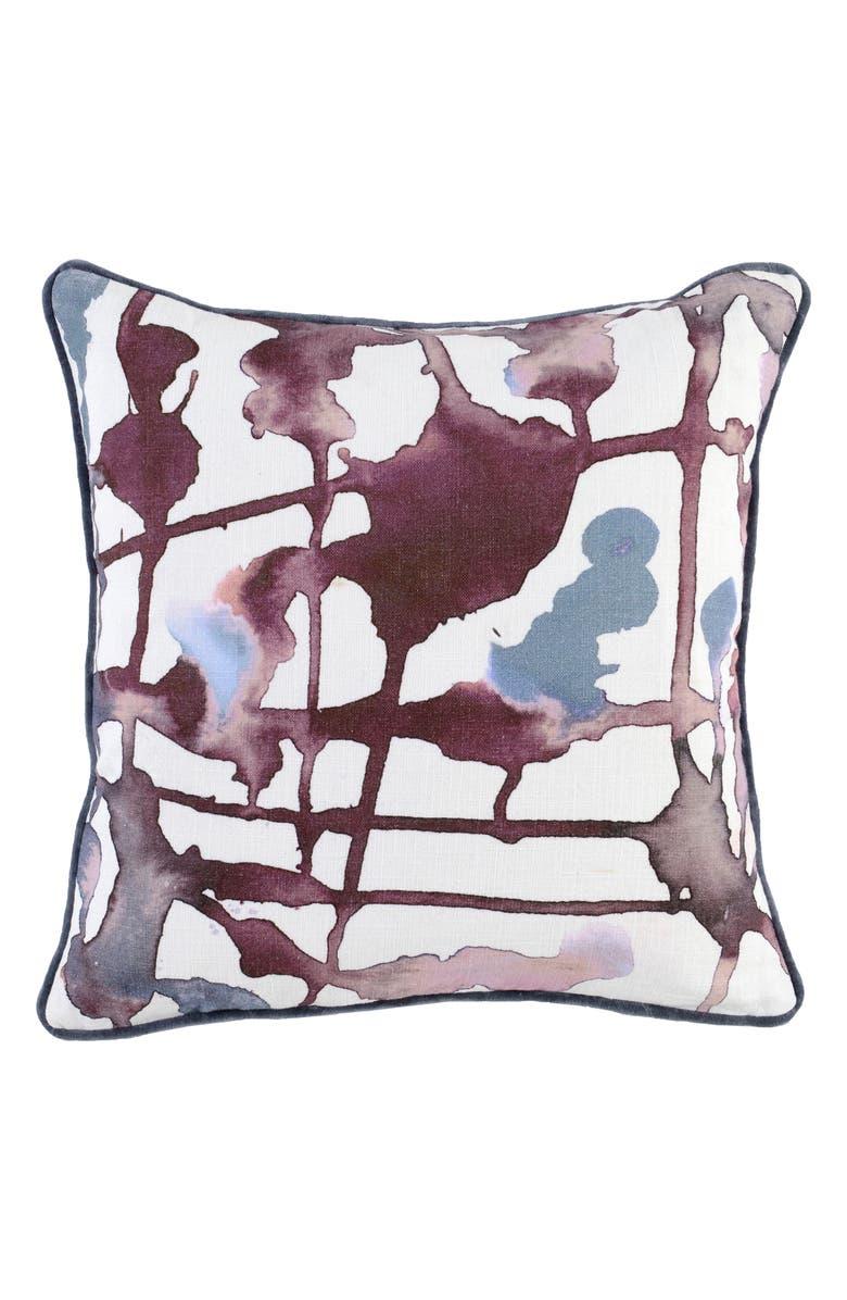 VILLA HOME COLLECTION Lillian Accent Pillow, Main, color, WINE/ GRAY