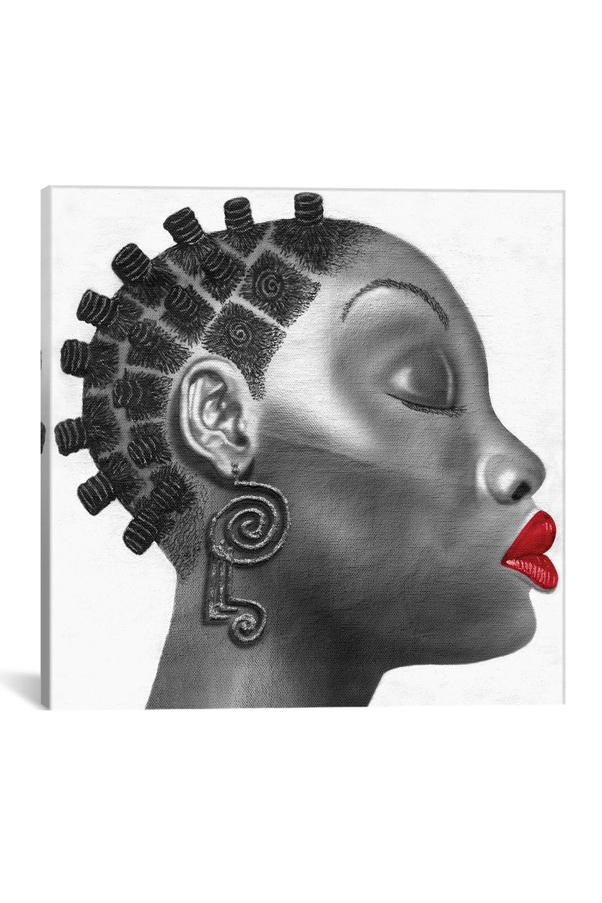 Image of iCanvas Nubian Girl by Fred Odle Wall Art